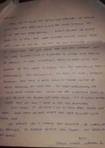 letter sold